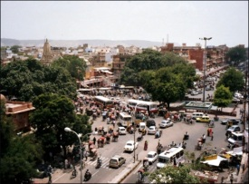 Traffic in Jaipur (August 2005)
