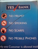 """Yes"" bank sign on ATM (Delhi, Jul. 2014)"