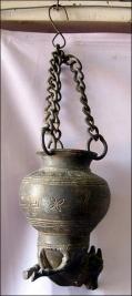 Hanging horse pot