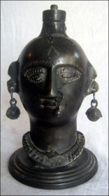 Lady head oil lamp