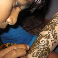 Henna tattoo by Udit