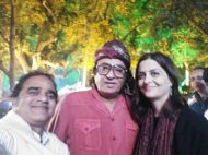Posing with famous Indian villain Ranjeet at KIFF 2017