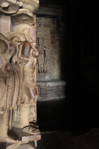 Inside Khajuraho temple