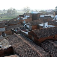 Old village & Javari temple, viewed from our rooftop