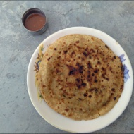 Breakfast options: parathas