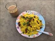 Breakfast options: poha