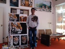 Raj Kumar: Wildlife painter in Khajuraho
